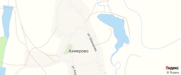 Улица Шакирова на карте деревни Ахмерово с номерами домов