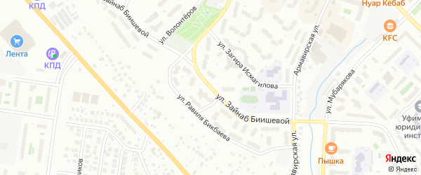 Улица Зайнаб Биишева на карте Октябрьского с номерами домов