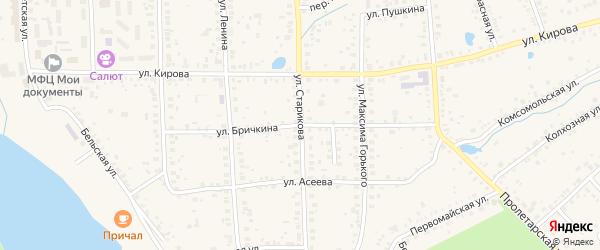Улица Бричкина на карте Благовещенска с номерами домов