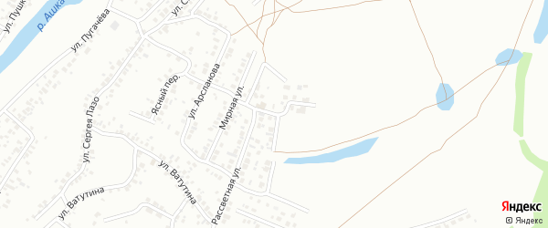 Новостройка 3-я улица на карте Стерлитамака с номерами домов