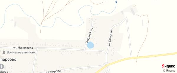 Озерная улица на карте села Ишпарсово с номерами домов