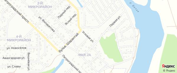 Угловая улица на карте Салавата с номерами домов