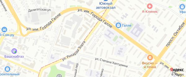 Добролетная улица на карте Уфы с номерами домов