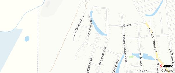 Западная 1-я улица на карте Ишимбая с номерами домов