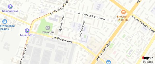 Цеховая улица на карте Уфы с номерами домов
