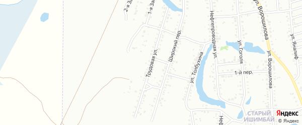 Трудовая улица на карте Ишимбая с номерами домов