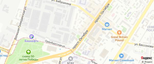 Улица Володарского на карте Уфы с номерами домов