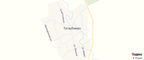 Карта села Татарбаево в Башкортостане с улицами и номерами домов