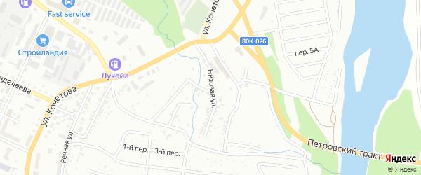 Низовая улица на карте Стерлитамака с номерами домов