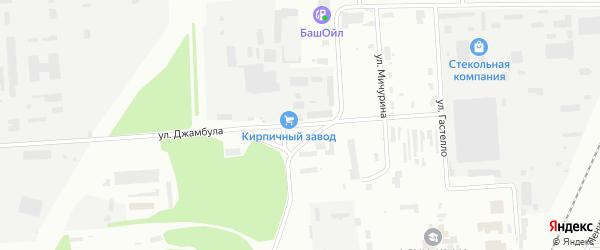 Улица Джамбула на карте Стерлитамака с номерами домов