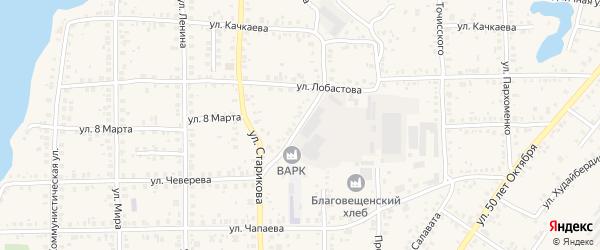 Улица Космонавтов на карте Благовещенска с номерами домов