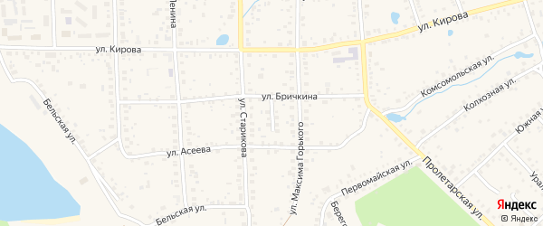 Тупик Бричкина на карте Благовещенска с номерами домов