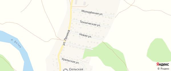 Новая улица на карте Первомайской деревни с номерами домов