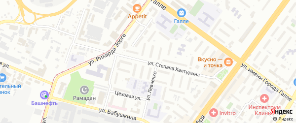 Улица Степана Халтурина на карте Уфы с номерами домов