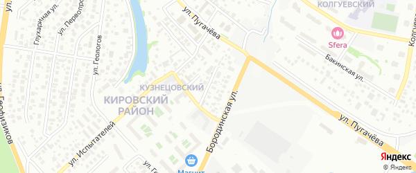 Спасский переулок на карте Уфы с номерами домов