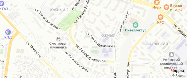 Улица Загира Исмагилова на карте Уфы с номерами домов