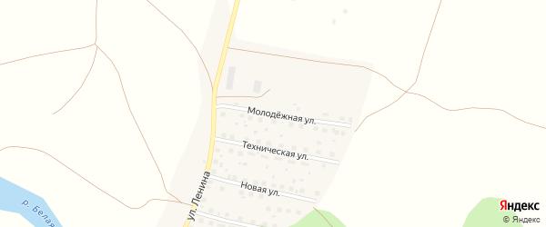 Молодежная улица на карте Первомайской деревни с номерами домов