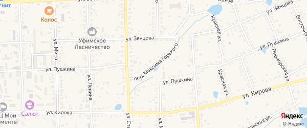 Переулок Максима Горького на карте Благовещенска с номерами домов