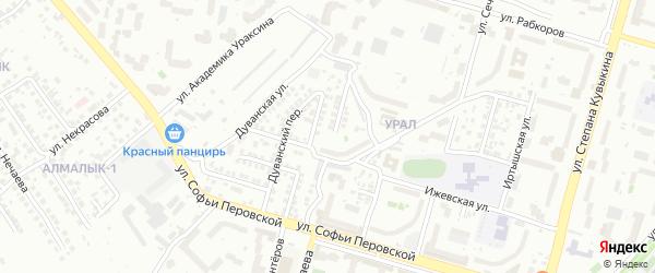 Шаранская улица на карте Уфы с номерами домов