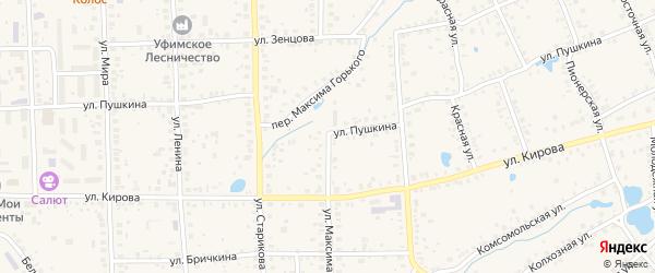 Улица Максима Горького на карте Благовещенска с номерами домов