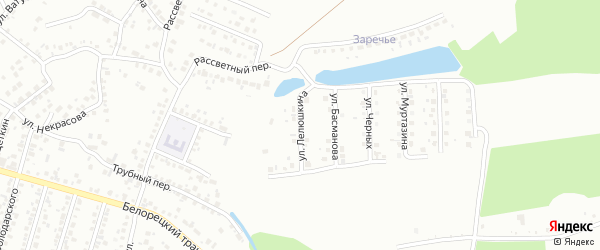 Улица Лелюшкина на карте Стерлитамака с номерами домов