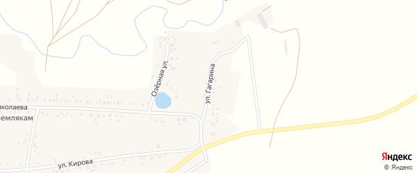 Улица Гагарина на карте села Ишпарсово с номерами домов