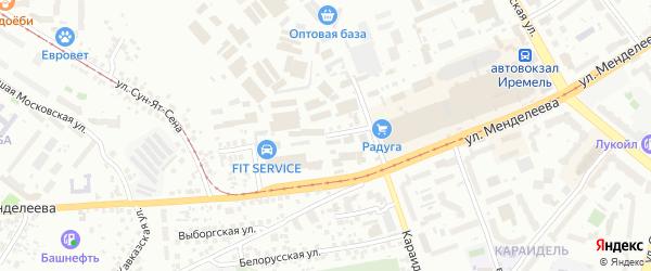 Гурьевская улица на карте Уфы с номерами домов