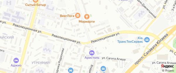 Владивостокская улица на карте Уфы с номерами домов