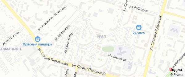 Уфимский 1-й переулок на карте Уфы с номерами домов