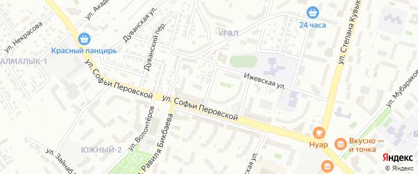 Иглинская улица на карте Уфы с номерами домов