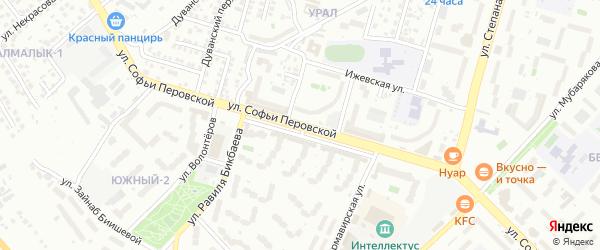 Улица Софьи Перовской на карте Уфы с номерами домов
