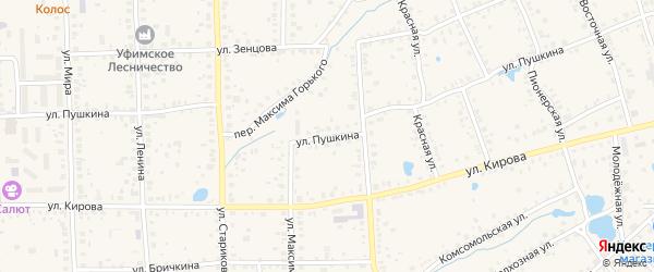 Улица Пушкина на карте Благовещенска с номерами домов
