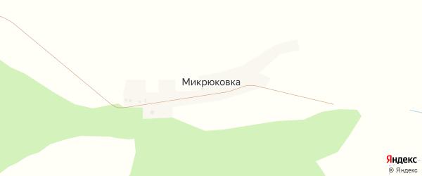 Улица Дружбы на карте деревни Микрюковки с номерами домов