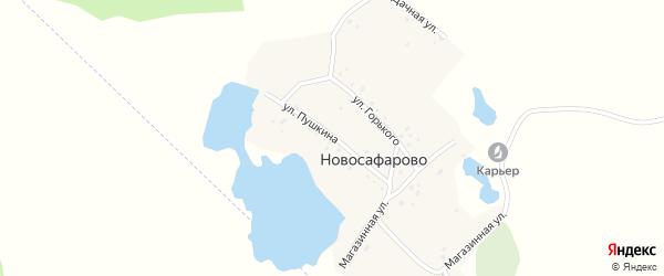 Улица Пушкина на карте деревни Новосафарово с номерами домов