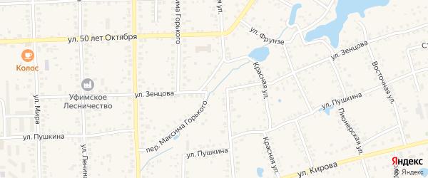 Улица Зенцова на карте Благовещенска с номерами домов