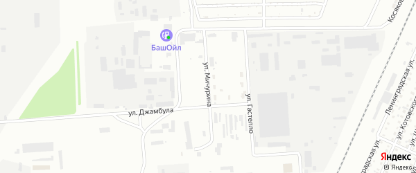 Улица Мичурина на карте Стерлитамака с номерами домов