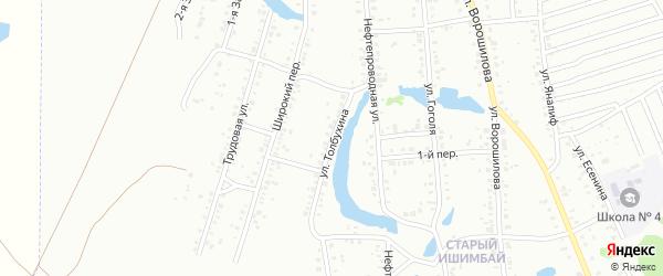 Улица Толбухина на карте Ишимбая с номерами домов