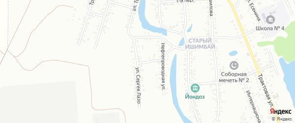 Улица Сергея Лазо на карте Ишимбая с номерами домов