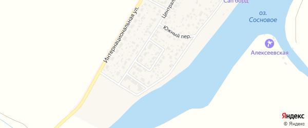 Набережная улица на карте деревни Алексеевки с номерами домов