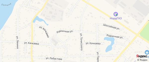 Родничная улица на карте Благовещенска с номерами домов