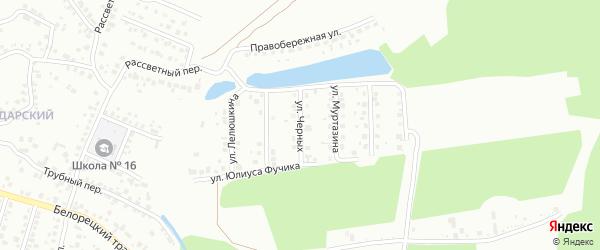 Улица Черных на карте Стерлитамака с номерами домов