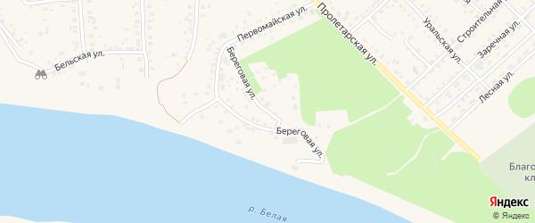 Береговая улица на карте Благовещенска с номерами домов