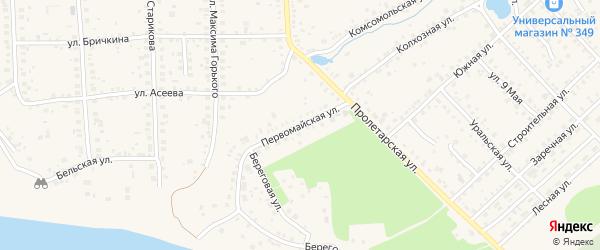 Первомайская улица на карте Благовещенска с номерами домов