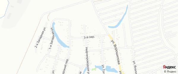 3-й переулок на карте Ишимбая с номерами домов