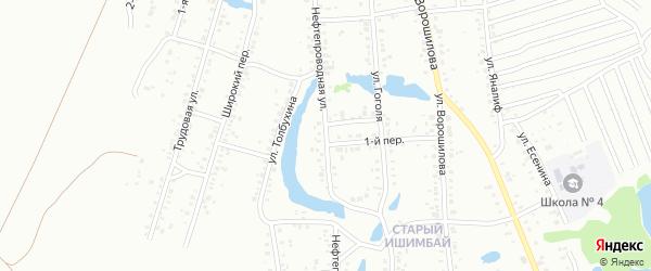 Нефтепроводная улица на карте Ишимбая с номерами домов