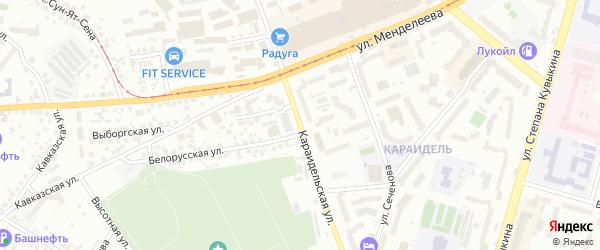 Караидельская улица на карте Уфы с номерами домов