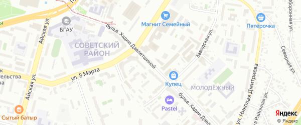 Хадии Давлетшиной бульвар на карте Уфы с номерами домов