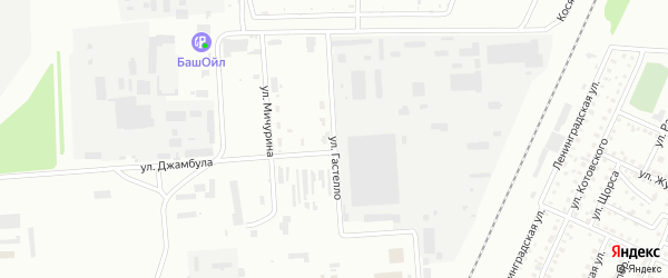 Улица Гастелло на карте Стерлитамака с номерами домов