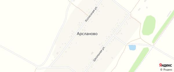 Колхозная улица на карте села Арсланово с номерами домов