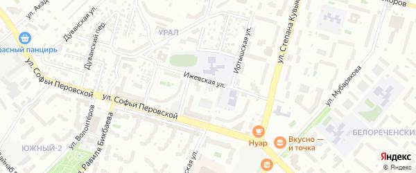 Ангарская улица на карте Уфы с номерами домов